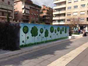 Piazza Santa Emerenziana. Graffiti 300