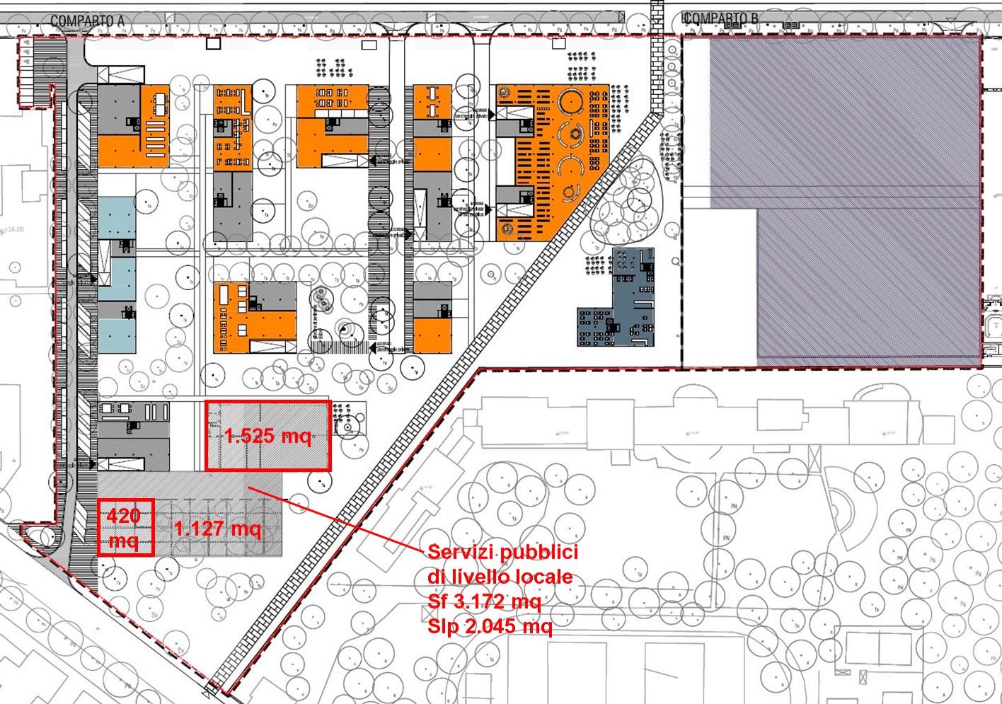 Mappa Guido Reni - -Servizi