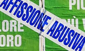 manifesti abusivi