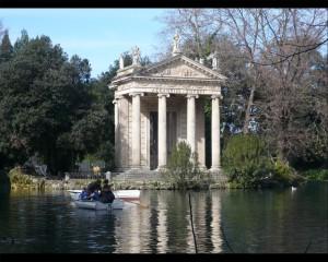 Giardino del lago. Tempio di Esculapio
