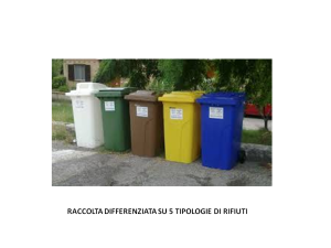 RACCOLTA DIFFERENZIATA 5 TIPOLOGIE RIFIUTI