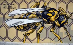 """Murale """"Nido di vespe"""""""