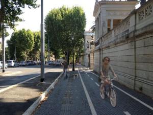 no1 Pista ciclabile davanti a Villa Torlonia